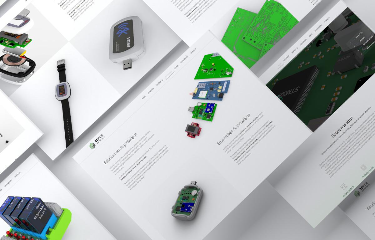 diseño de páginas web 3dpcb electrónica ui