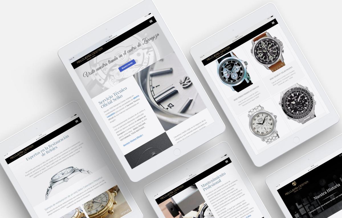 diseño página web relojeria cester iPad