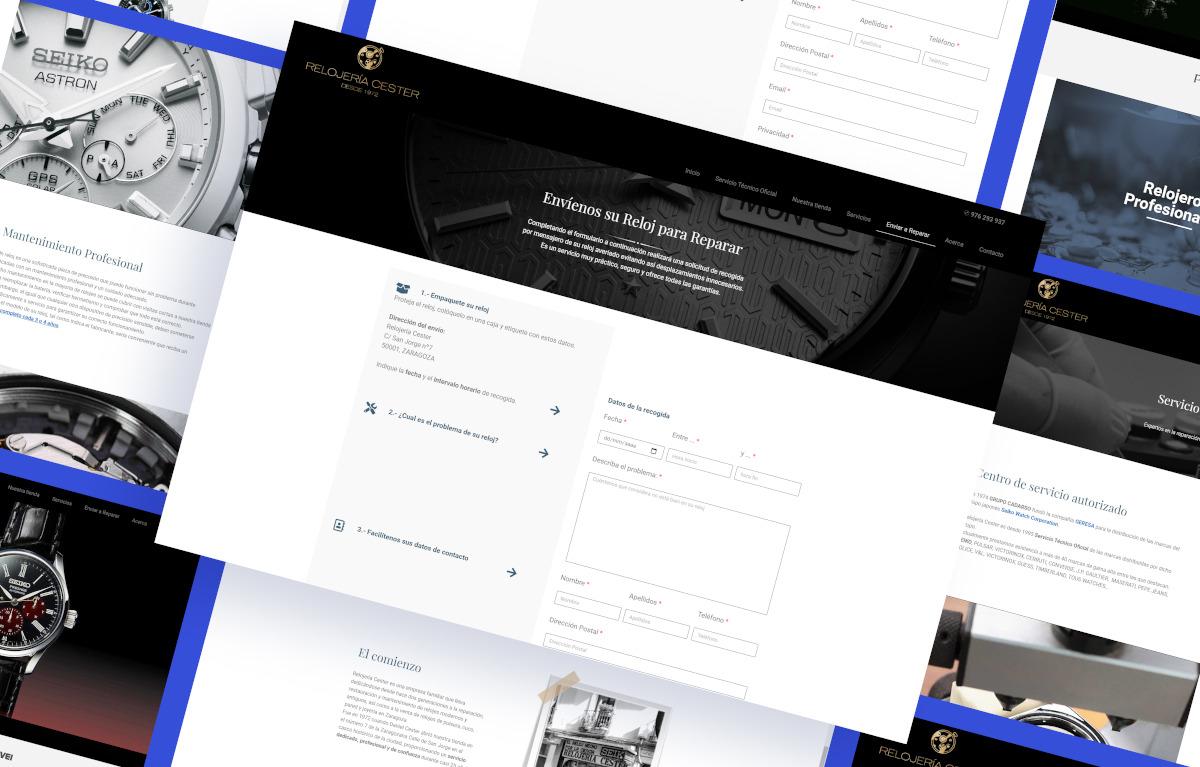 diseño página web relojeria cester ui