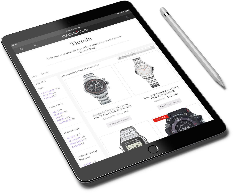 tienda online relojeria prestashop