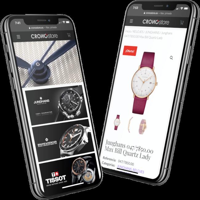diseño ecommerce relojería