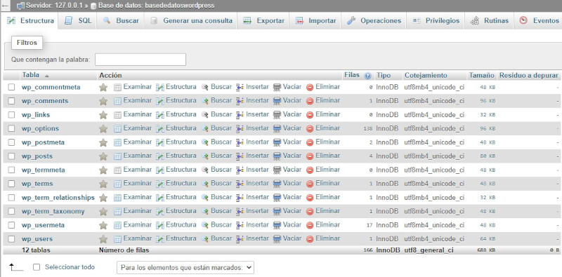 optimizar la base de datos de wordpress 2