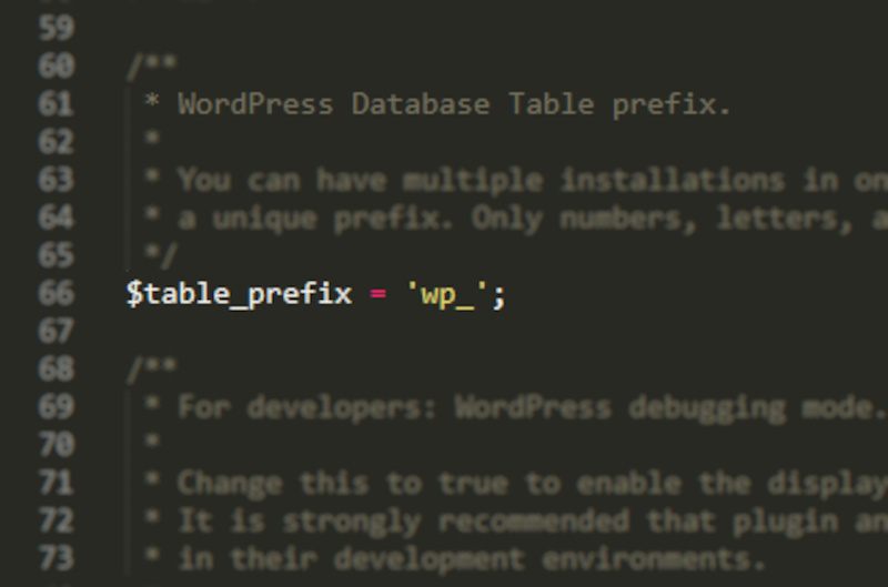 cambiar el prefijo de la base de datos de wordpress 1